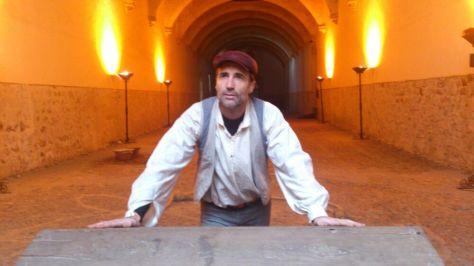 Cristobal Colón en el Convento de San Esteban.