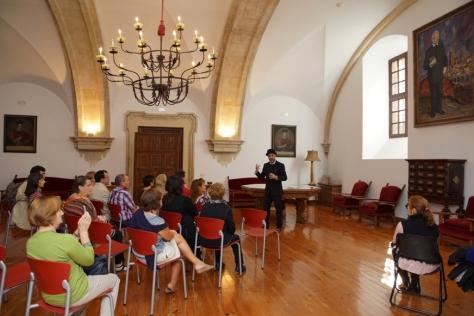 Miguel de Unamuno en la Casa Rectoral de Salamanca.