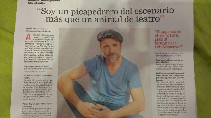Salamanca ayer amaneció con este absurdo titular.
