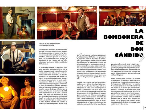 La bombonera de Don Cándido. Los Absurdos Teatro. Teatro Lara.