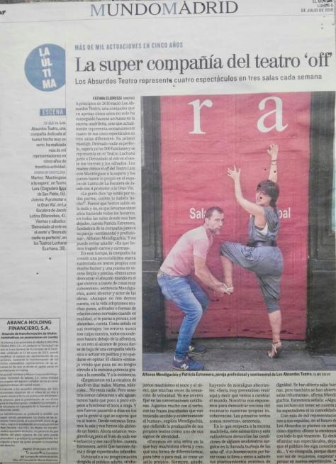 Los Absurdos Teatro. La súper compañía de teatro. El Mundo.