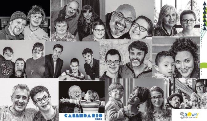 Alfonso Mendiguchía apoyando el calendario de la Asociación Síndrome Down Salamanca.