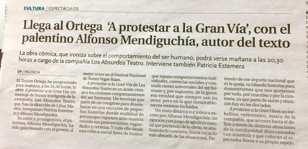 DIARIO PALENTINO. A PROTESTAR A LA GRAN VÍA.